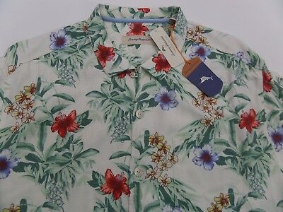 Tommy Bahama $148 Breakwaway Blooms Continental Silk Short Sleeve Camp Shirt NWT