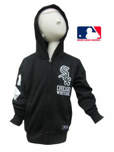 Chicago White Sox Boys//Girls Black Hoodie Majestic Major League Baseball 8Y-15Y