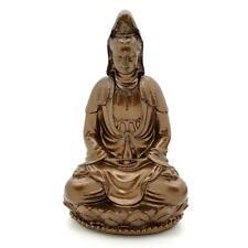 "KWAN YIN STATUE 3"" Buddhist Goddess HIGH QUALITY Bronze Resin Deity Guan Quan"