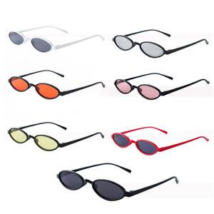Women-Retro-Small-Oval-Frame-Sunglasses-Women-039-S-Shades-Trendy-Tiny-Glasses