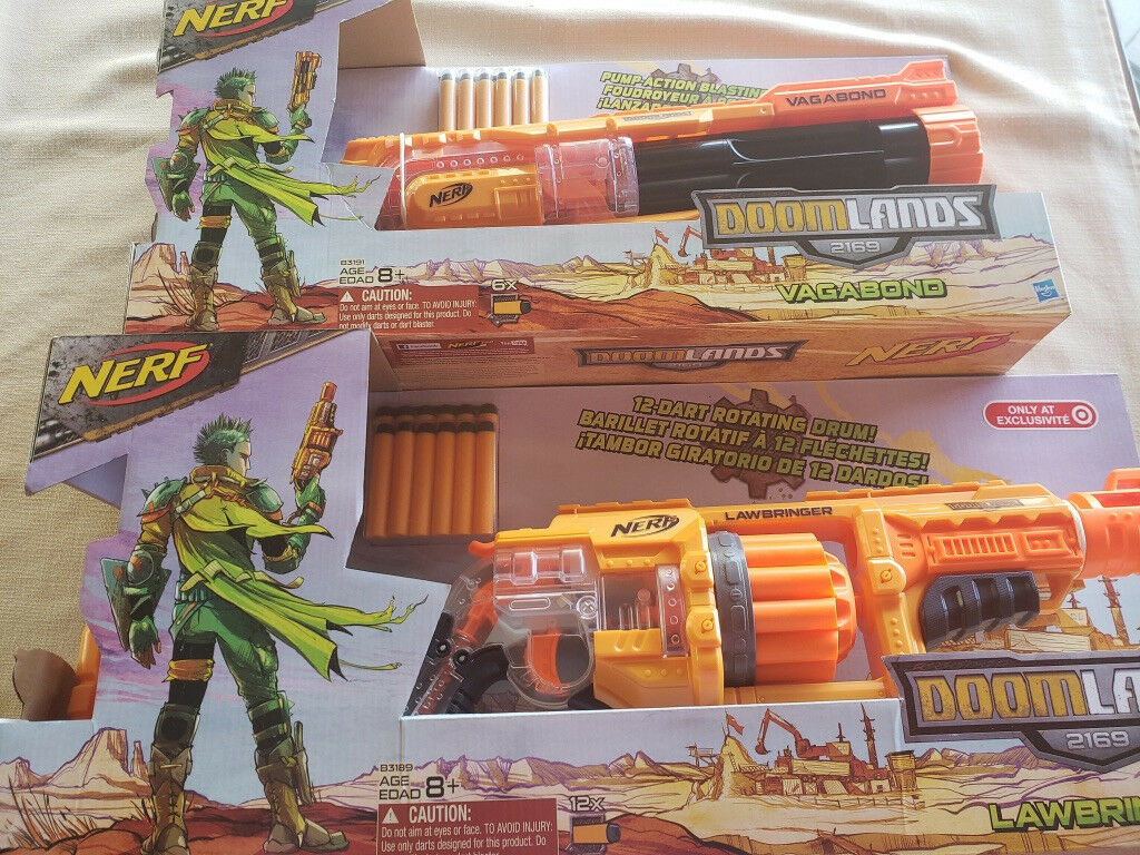 Hasbro Nerf Doomlands 2169 Lawbringer Blaster Dart Gun Gun Gun & Nerf Doomlands Vagabond 2242ca