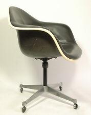 Sedia Poltrona Eames Shell wheel Chair Vintage Miller Vitra black&white-OL(