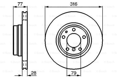 Bosch disques de frein garnitures avant ø316 BMW 7er 3874427