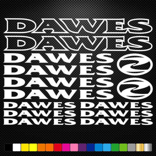 Kompatibel DAWES BIKES aufkleber sticker set abziehbild decal fahrrad bike bmx