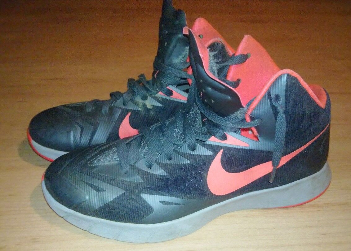 Nike Lunar Hyperquickness Black/Hyper PunchGrey men's basketball Price reduction Comfortable and good-looking