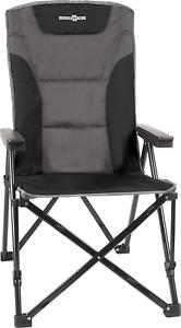 Black BRUNNER Raptor Recliner Folding Chair polyester