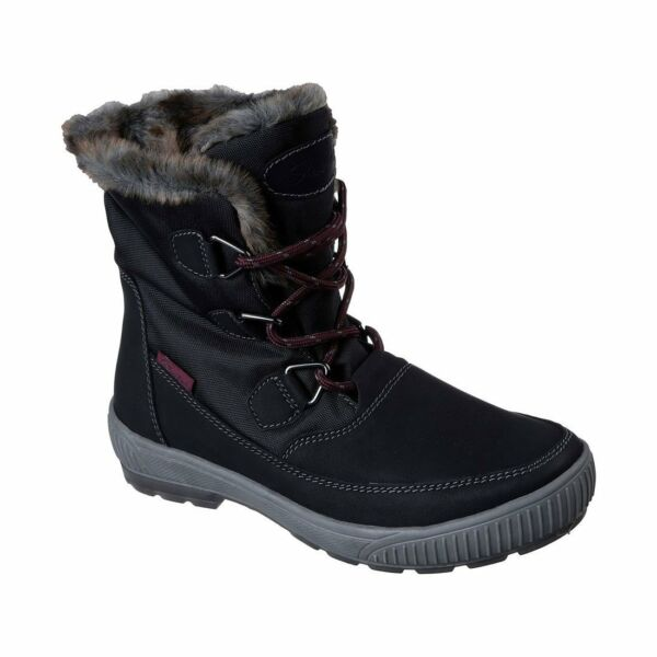 Skechers Womens Woodland Dry Quest Winter Snow Boot Black
