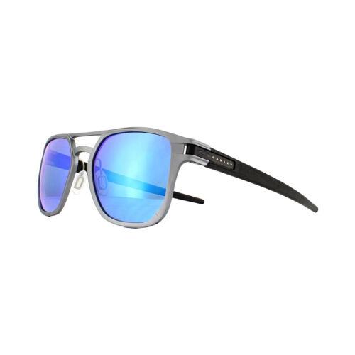 Alpha 04 Gunmetal Matte Polarized Oakley da Latch Oo4128 sole Occhiali Prizm Sapphire wIBYZ