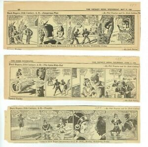 Vintage-Buck-Rogers-1939-Daily-Comic-Strip-Set-of-3-687-688-689