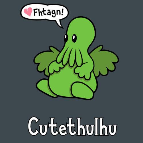 Genki Gear cutethulhu mignon Cthulhu Lovecraft gris monté T-shirt à manches courtes