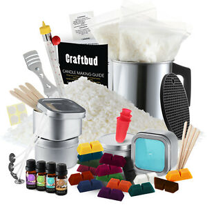 Candle Making Kit, Soy Wax Flakes, Wicks, Pitcher, Fragrance Oil, 16 Color Dyes