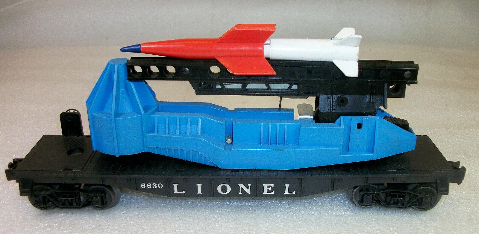 3G 6630 Cohete Lanzamiento Lionel de posguerra uncataloged plana coche limpio Excelente +