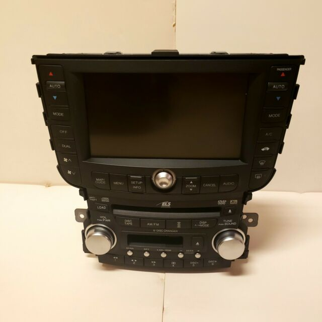 04-06 Acura TL Navigation Infotainment System/AM FM Radio