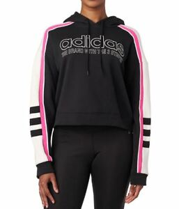 ebab37740b41 Adidas Originals Women s RACING AA-43 CROPPED Hoodie Black DH4214 c ...
