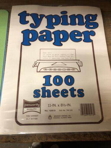 Penworthy Typing Typewriter Paper 100 Sheets Vintage Sealed