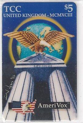 Nyson II Eagle On Top of Roman Temple TK 31a Telefonkarte//Phonecard Amerivox $5