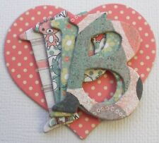 """Bo Bunny Double Dot *WiLD BERRY* Chipboard Letters Alphabet Die Cuts  1.5/"""" Tall"""