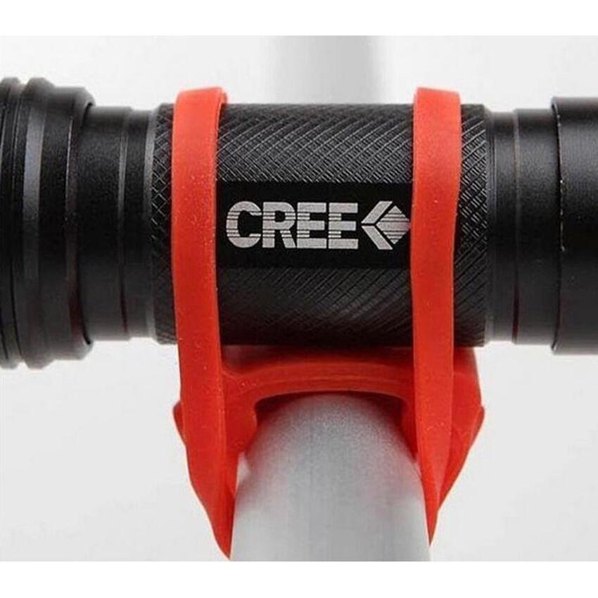 Cycling Bike Bicycle Silicone Elastic Strap Bandage Flashlight Mount Holder RR