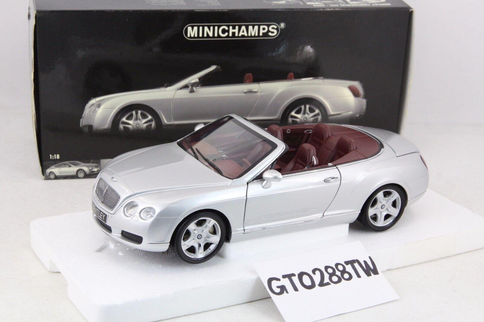 Todo en alta calidad y bajo precio. Minichamps Minichamps Minichamps Escala 1 18 Bentley Continental GTC 2006 (Plata Metálico) Raro  El ultimo 2018