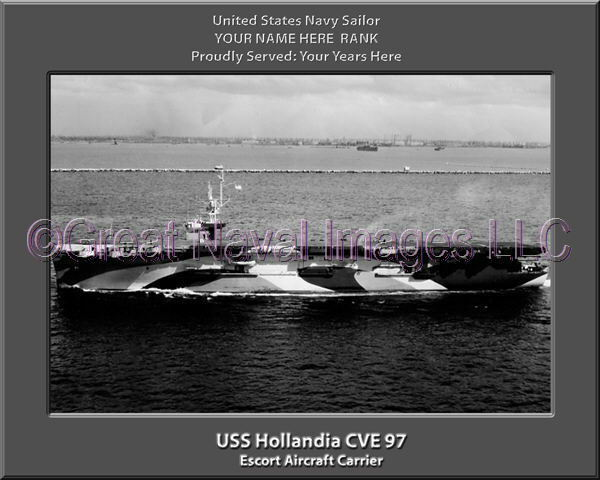 USS Hollandia CVE 97 Personalized Canvas Ship Photo Print Navy Veteran Gift