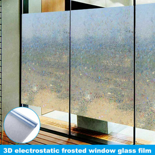 Details about  /3D Electrostatic Frosted Window Glass Film Privacy Window Glass FilmSelf-Adhesiv