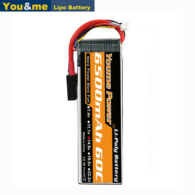 2pcs 14.8V 4S 6500mAh 60C LiPO Battery for RC Airplane Helicopter Traxxas Truck