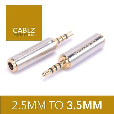 2.5mm Male to 3.5mm Jack Audio Plug male Stereo Headphone Adaptor Converter