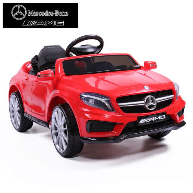 Kids 6v Electric Rc Ride On Car Mercedes Benz Remote Mp3 Red Licensed