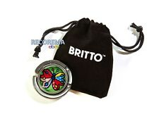 ROMERO BRITTO GLASS PURSE HOOK & POUCH BUTTERFLY   DESIGN   ** NEW **
