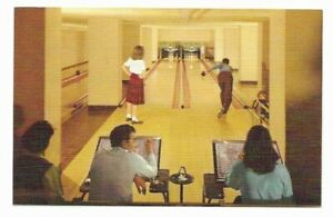 ID-Sun-Valley-Idaho-Bowling-Lane-Alley-Lodge-Game-Room-1950s-Postcard