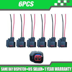 QUALITY PRODUCT!-8pcs Fuel Injector Connector Wiring Plugs Clips EV6 EV14