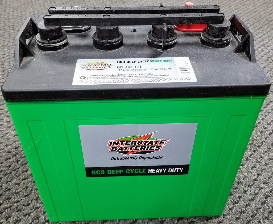 Interstate Batteries GC8HCLUTL Golf Cart Batterie