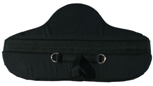 BAREBACK SADDLE PAD ~ BLACK WITH MONKEY GRIP MINI SHETLAND