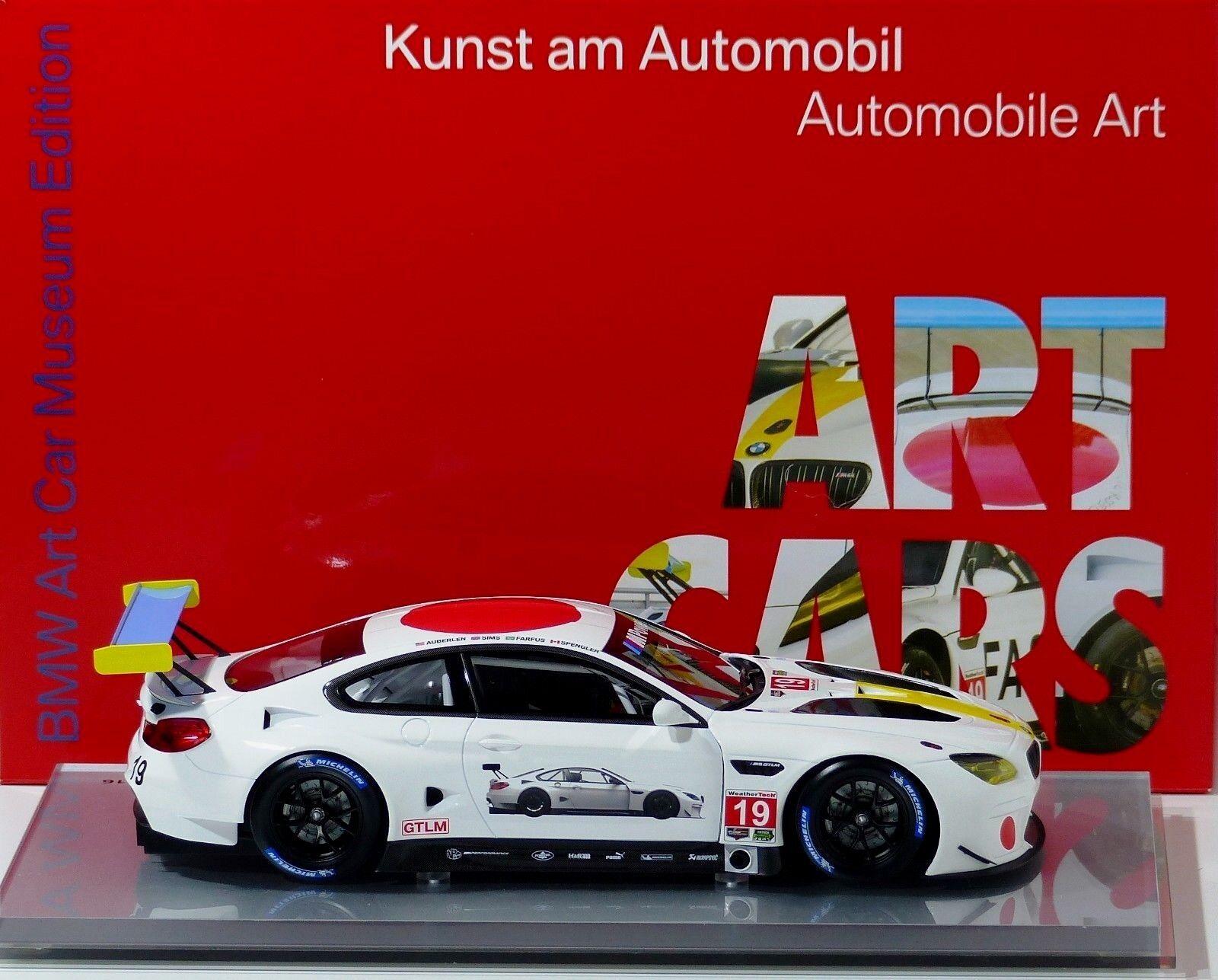 BMW ART CAR m6 GTLM John Baldessari Baldessari Baldessari  19 24 H DAYTONA BMW M-Power Kyosho 1 18 neuf 7efd9e