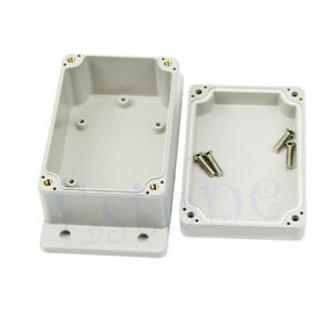 "Waterproof 3.94"" x 2.68"" x 1.97"" Plastic Electronic Project Box Enclosure Case"