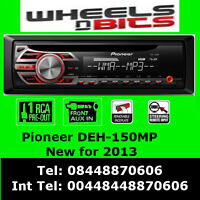Pioneer Deh-150mp Car Radio Cd Mp3 Stereo Front Aux-in Player Red Light Up