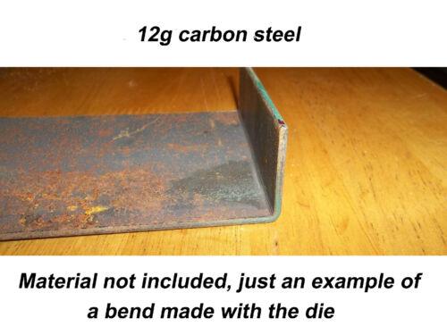 "DIY or homemade press brake punch 1018-90º 3//4/"" x 3/""± x 9/"" long steel"