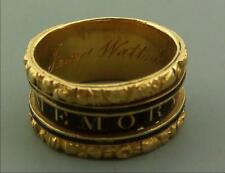 ANTIQUE MOURNING RING 22CT GOLD JAMES WATT INVENTOR 1819
