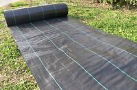1x Ground Cover 5x300ft Heavy Pp Woven Weed Barrier, Plastic Mulch Weed Block