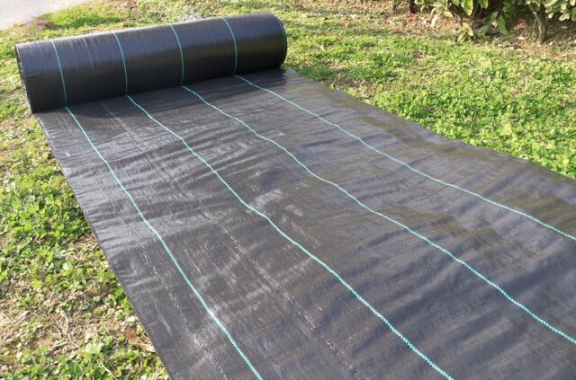 Ground Cover 6x100ft Heavy Pp Woven Weed Barrier Plastic Mulch Block