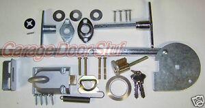 Garage Door Lock Set 1 Car Door Torsion Spring Ebay