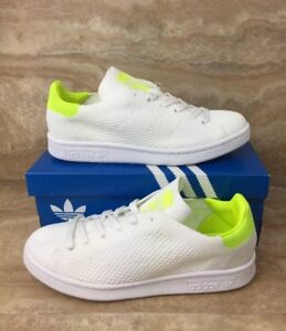 a7f04ada Adidas Originals Stan Smith Primeknit Shoes White Lime Green Women's ...
