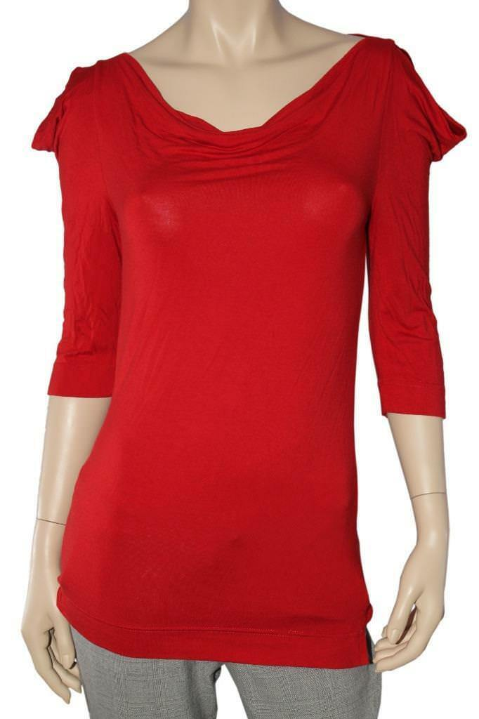 Vivienne Westwood Anglomania Red Blouse Size S