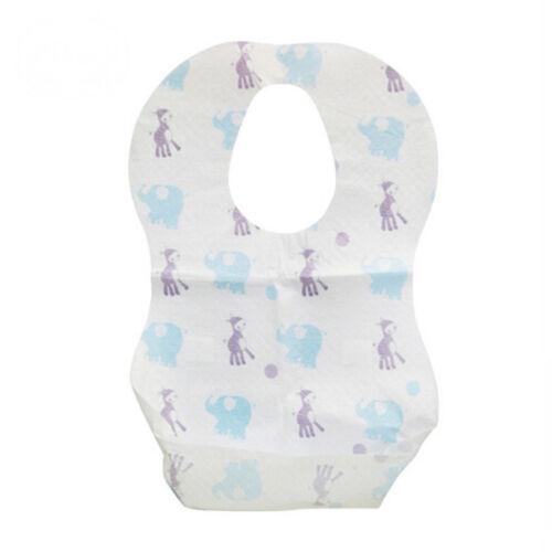 10pcs Disposable Bibs Children Baby Waterproof Sterile Eat Bibs With Pocket S