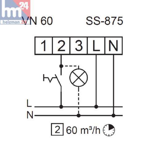 Helios Helios Helios Radial-Ventilatoreinsatz 8137 ELS-VN 60 mit Fassade und Nachlauffunktion 944268
