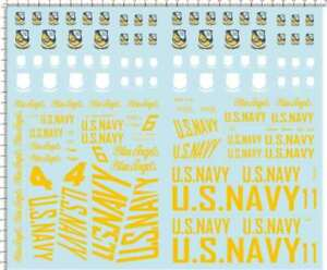 1-48-Scale-USAF-Blue-Angels-for-F-A-18A-HORNET-Model-Kit-Water-Slide-Decal