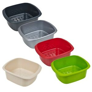 11-Litre-Rectangular-Washing-Up-Bowl-Stackable-Kitchen-Sink-Plastic-Dish-Caddy