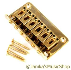 gold top loading hardtail electric guitar bridge for through body or hard tail ebay. Black Bedroom Furniture Sets. Home Design Ideas