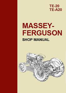 massey ferguson te 20 te a20 tractor workshop manual ebay rh ebay com
