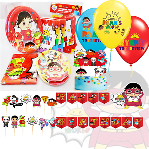 RYANS-REVIEW-WORLD-CAKE-TOPPER-PARTY-BANNER-CUPCAKE-BALLOON-SUPPLIES-DECORATION